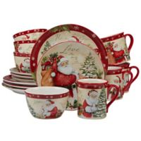 Certified International Holiday Wishes© by Susan Winget 16-Piece Dinnerware Set