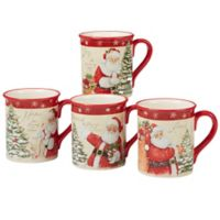 Certified International Holiday Wishes© by Susan Winget Mugs (Set of 4)