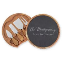 5-Piece Slate and Acacia Cheese Board and Knife Set
