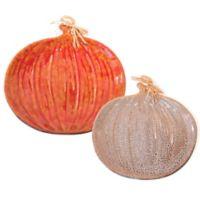 Boston International Harvest Pumpkin Serving Dishes in Cream/Orange (Set of 2)