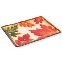 Boston International Harvest Leaf Glass Platter