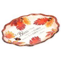 Boston International Harvest Acorn/Leaf 14-Inch Oval Platter Platter