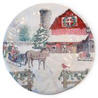 Boston International Christmas Farm Serving Plate