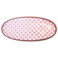 Boston International Red Cherry Dot 18.5-Inch Oval Platter