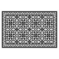 "FlorArt 36"" x 24"" Humboldt Kitchen Mat in Black"