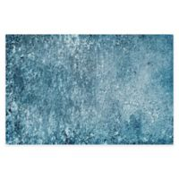 "FlorArt 36"" x 24"" Rough Country Kitchen Mat in Blue"