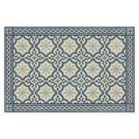 "FlorArt 36"" x 24"" Chelsey Steel Kitchen Mat in Sage"