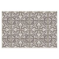"FlorArt 36"" x 24"" Javid Kitchen Mat in Khaki"