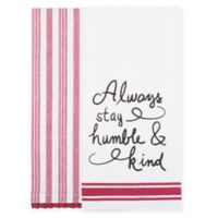 Bee & Willow™ Home 2-Pack Humble Kitchen Towels in White/Red