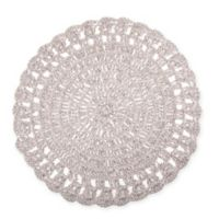 Bee & Willow™ Home Round Crochet Placemat in Grey