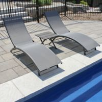 Vivere Coral Springs 3-Piece Lounger Set in Grey