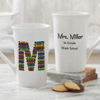Personalized Crayon Letter Teacher Coffee Mug