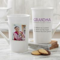 Personalized Definition Of Grandma Photo Latte Mug