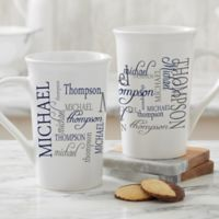 Personalized Signature Style For Him Latte Mug