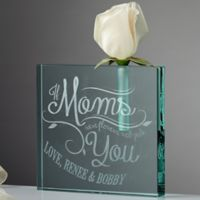 Loving Words To Her Personalized Bud Vase