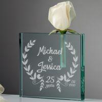 Happy Anniversary Personalized Bud Vase