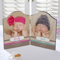 Personalized Gift of Twins Double Photo Plaque