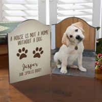 Personalized Paw Prints Photo Tabletop Plaque