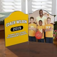 Personalized Our Coach Photo Tabletop Plaque