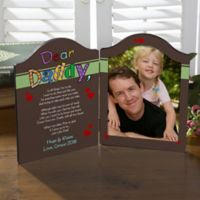 Personalized Why We Need A Dad/Grandpa Photo Plaque