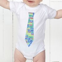 Dressed For Success Birth Info Personalized Baby Bodysuit
