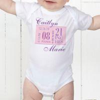 Baby's Big Day Personalized Baby Girl Bodysuit