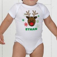 Christmas Reindeer Personalized Baby Bodysuit