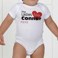 The Ladies Love Me Personalized Baby Bodysuit