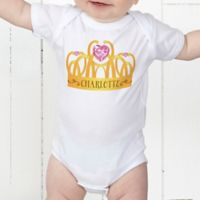 Princess Personalized Baby Bodysuit