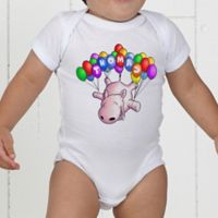Floating Zoo Personalized Baby Bodysuit
