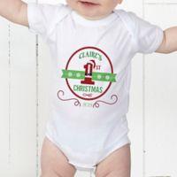Santa Loves Me Personalized Baby Bodysuit