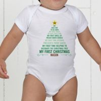 Baby's First Christmas Tree Personalized Baby Bodysuit