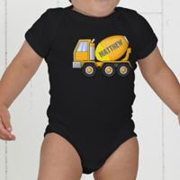 Construction Trucks Personalized Baby Bodysuit