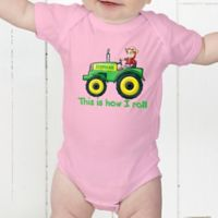 Tractor Time Personalized Baby Bodysuit