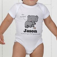 Lovable Elephant Personalized Baby Bodysuit