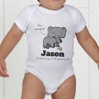 Lovable Elephant Personalized Baby Bodysuit