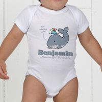 Lovable Whale Personalized Baby Bodysuit
