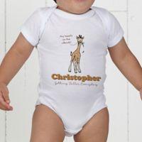 Lovable Giraffe Personalized Baby Bodysuit