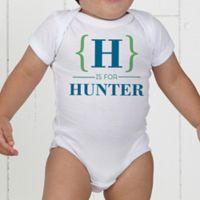 Name Bracket Personalized Baby Bodysuit