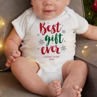 Best Gift Ever Personalized Christmas Baby Bodysuit
