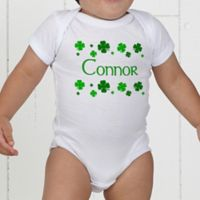 Lucky Clover Personalized Baby Bodysuit