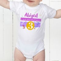 What's Your Number? Personalized Baby Bodysuit