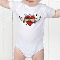 Heartbreaker Personalized Baby Bodysuit