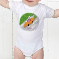 Retro Rabbit Easter Personalized Baby Bodysuit