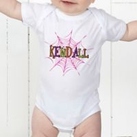 Spider Webs for Her Personalized Baby Bodysuit