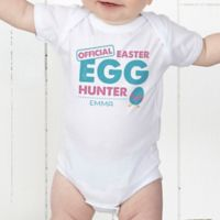 Easter Egg Hunter Personalized Baby Bodysuit