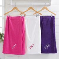 Spa Comfort Ladies Embroidered Monogram Towel Wrap