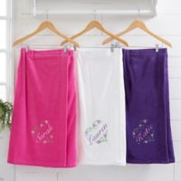 Floral Heart Embroidered Towel Wrap