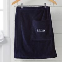 Men's Embroidered Name Towel Wrap