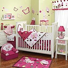 lambs u0026 ivy raspberry swirl 5piece crib bedding set